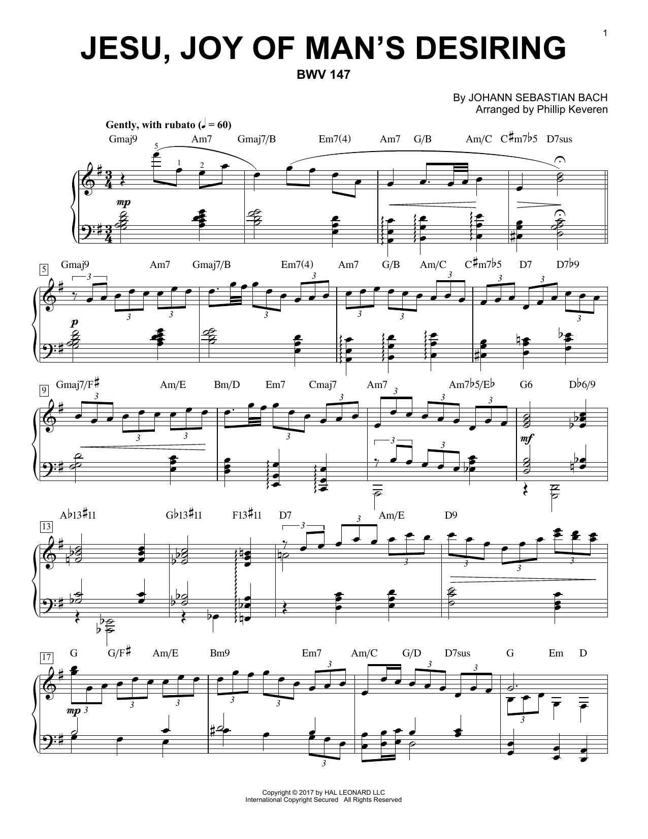 page one of Jesu, Joy Of Man's Desiring, BWV 147ASALTTEXT