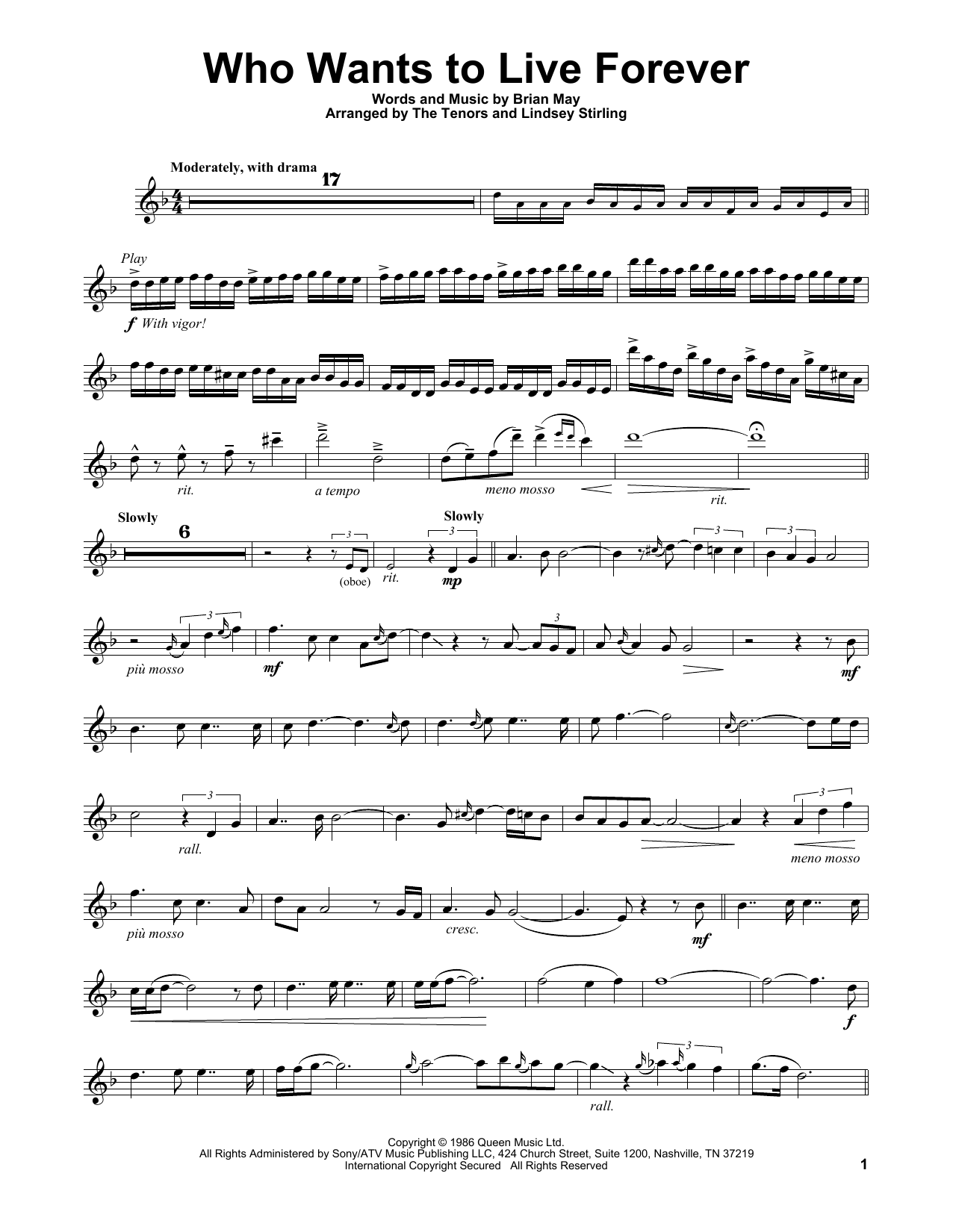 Who Wants To Live Forever (Violin Solo)