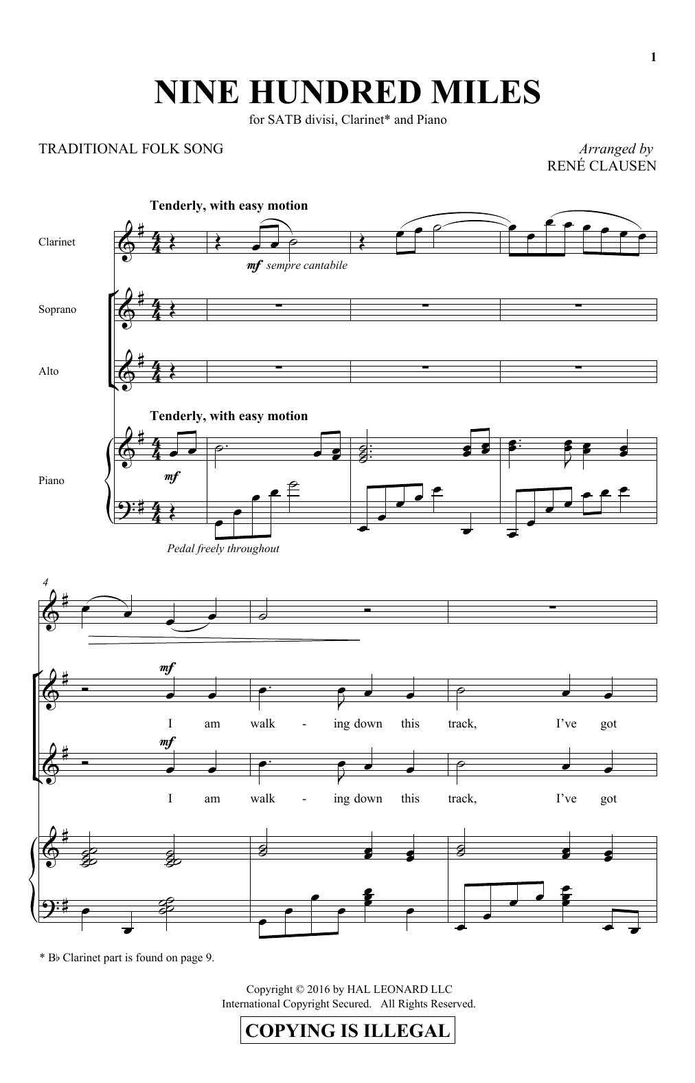 900 Miles (SATB Choir)
