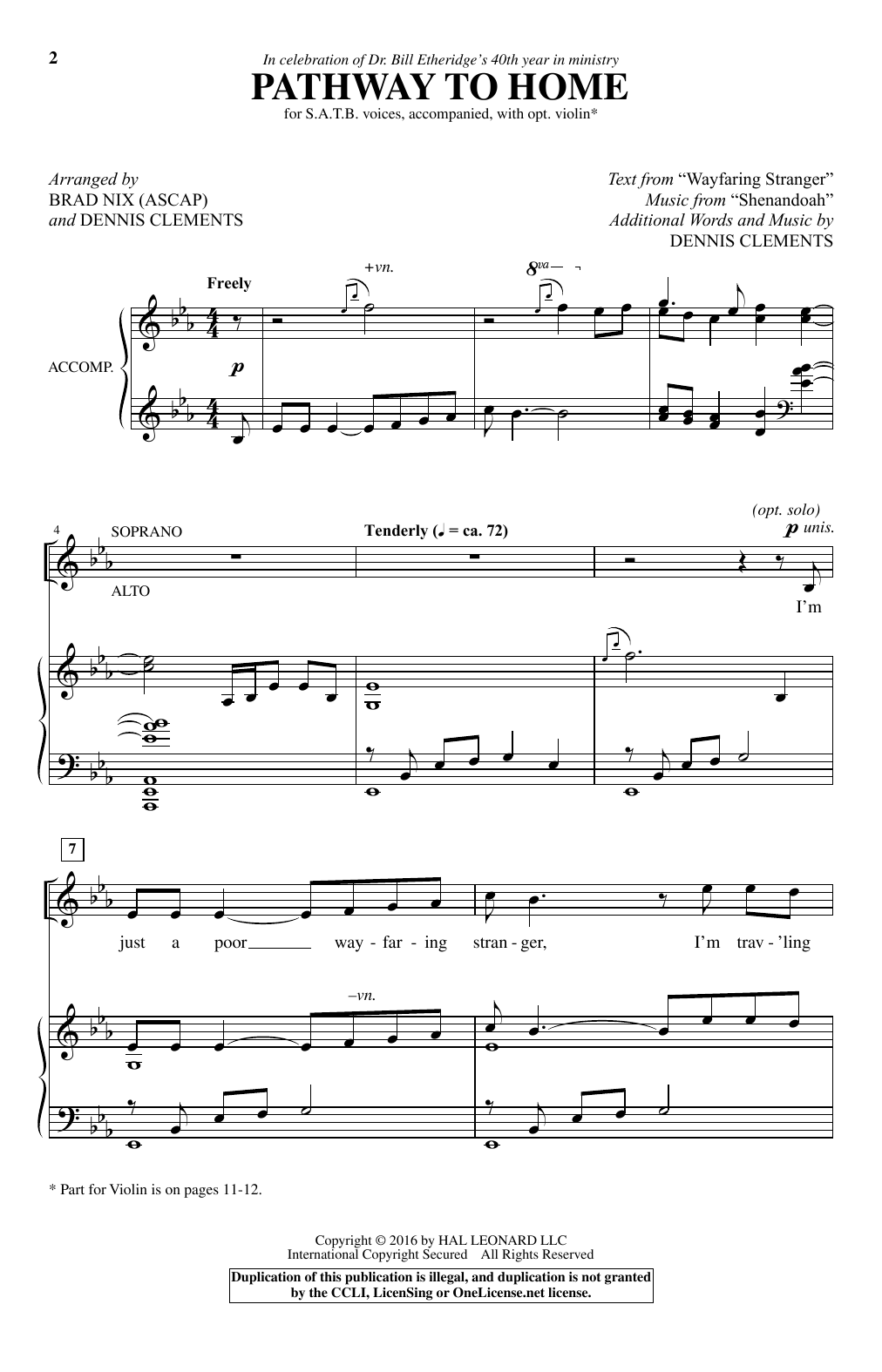 Pathway To Home (Choir)