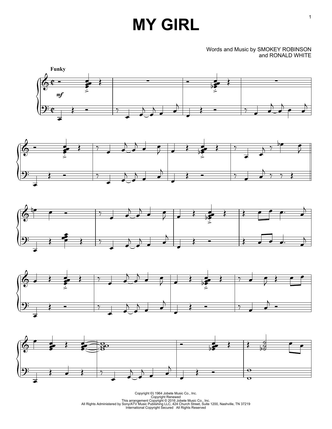 My Girl [Jazz version] (Piano Solo)