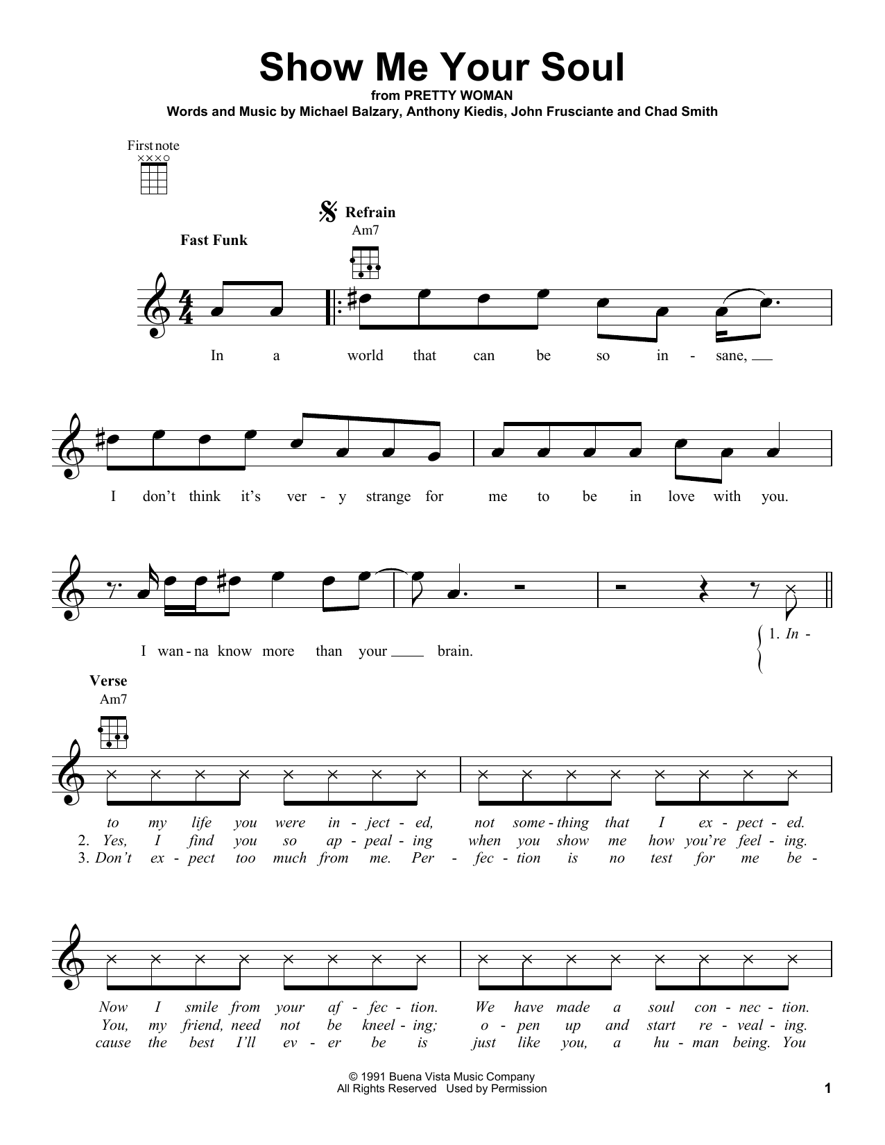 Soul to squeeze guitar chords