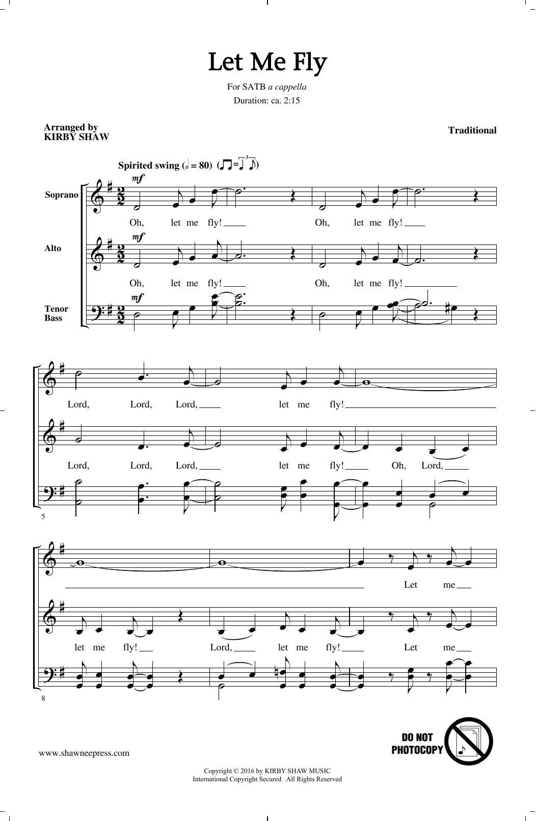 Let Me Fly (arr. Kirby Shaw) (SATB Choir)
