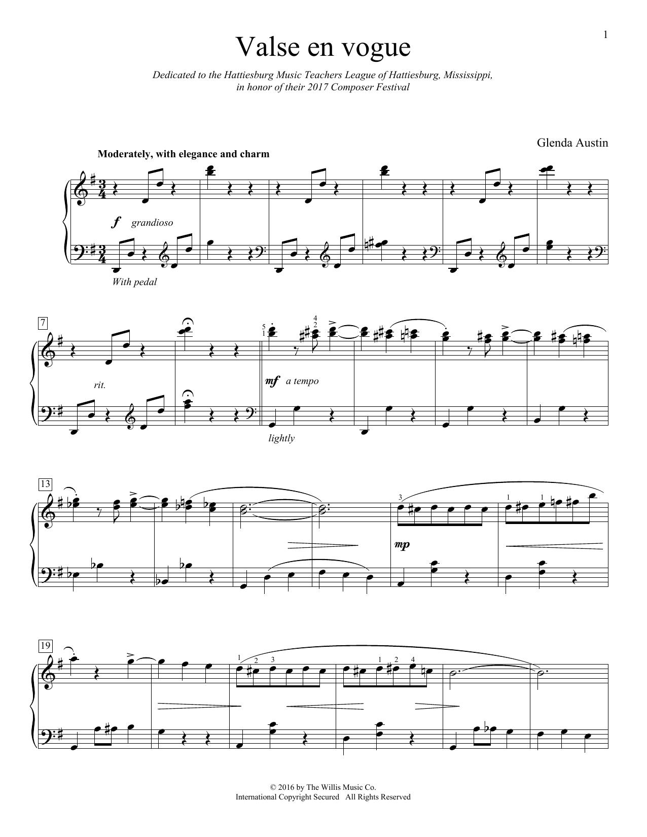 Valse En Vogue (Educational Piano)
