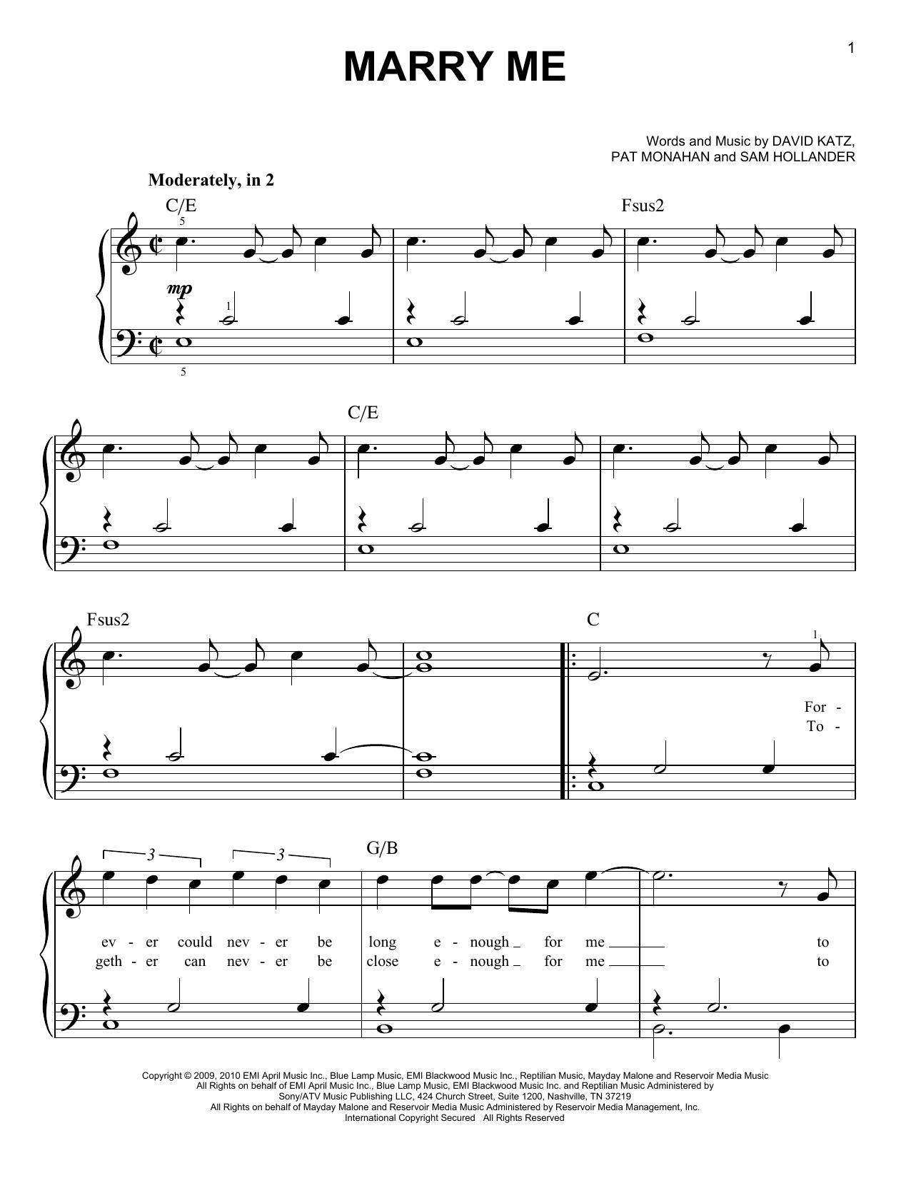Marry Me (Easy Piano)