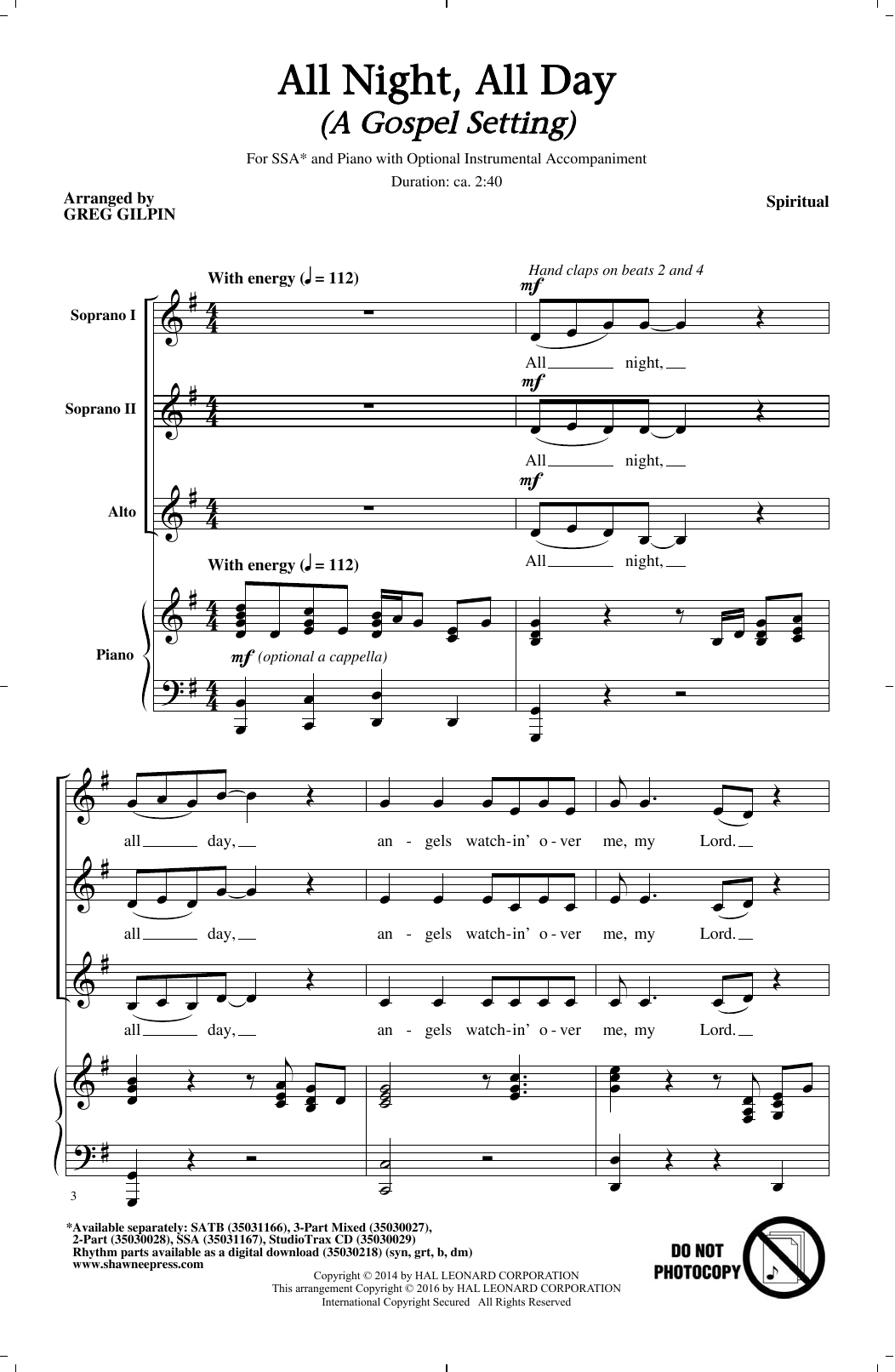 All Night, All Day Sheet Music