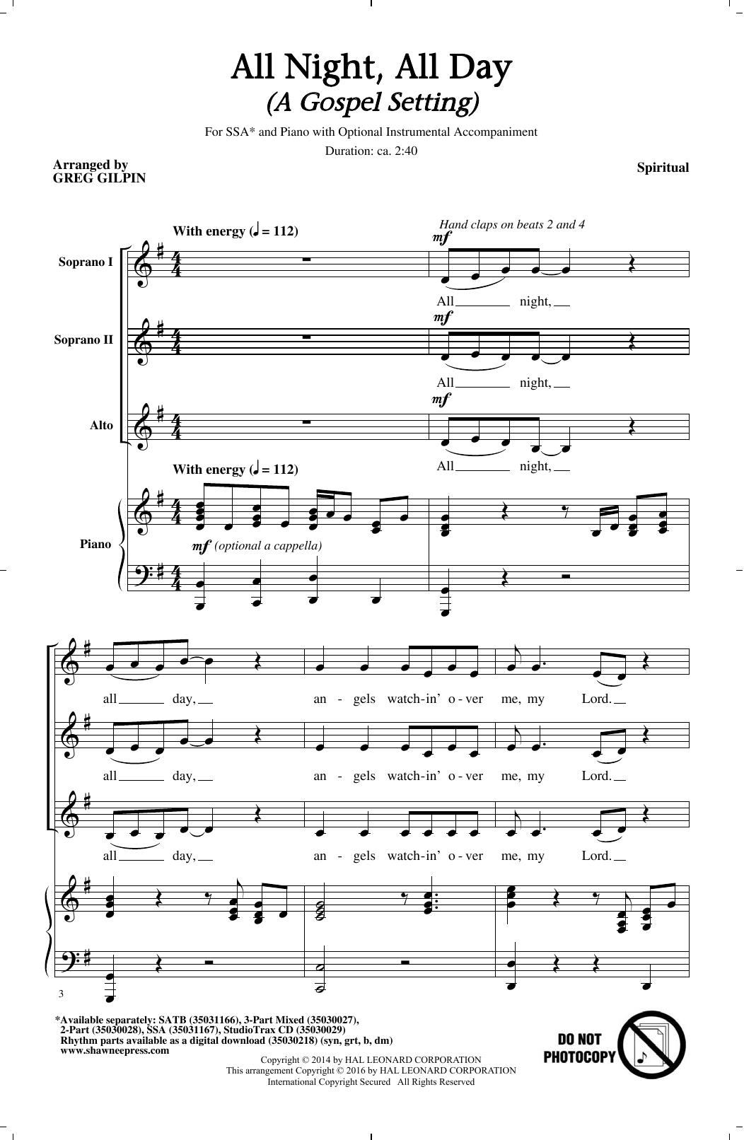 All Night, All Day (SSA Choir)