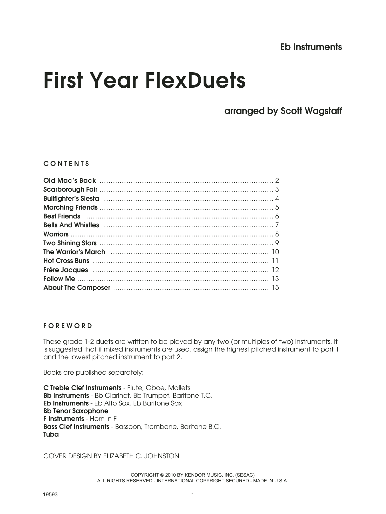 First Year FLexDuets - Eb Instruments Sheet Music