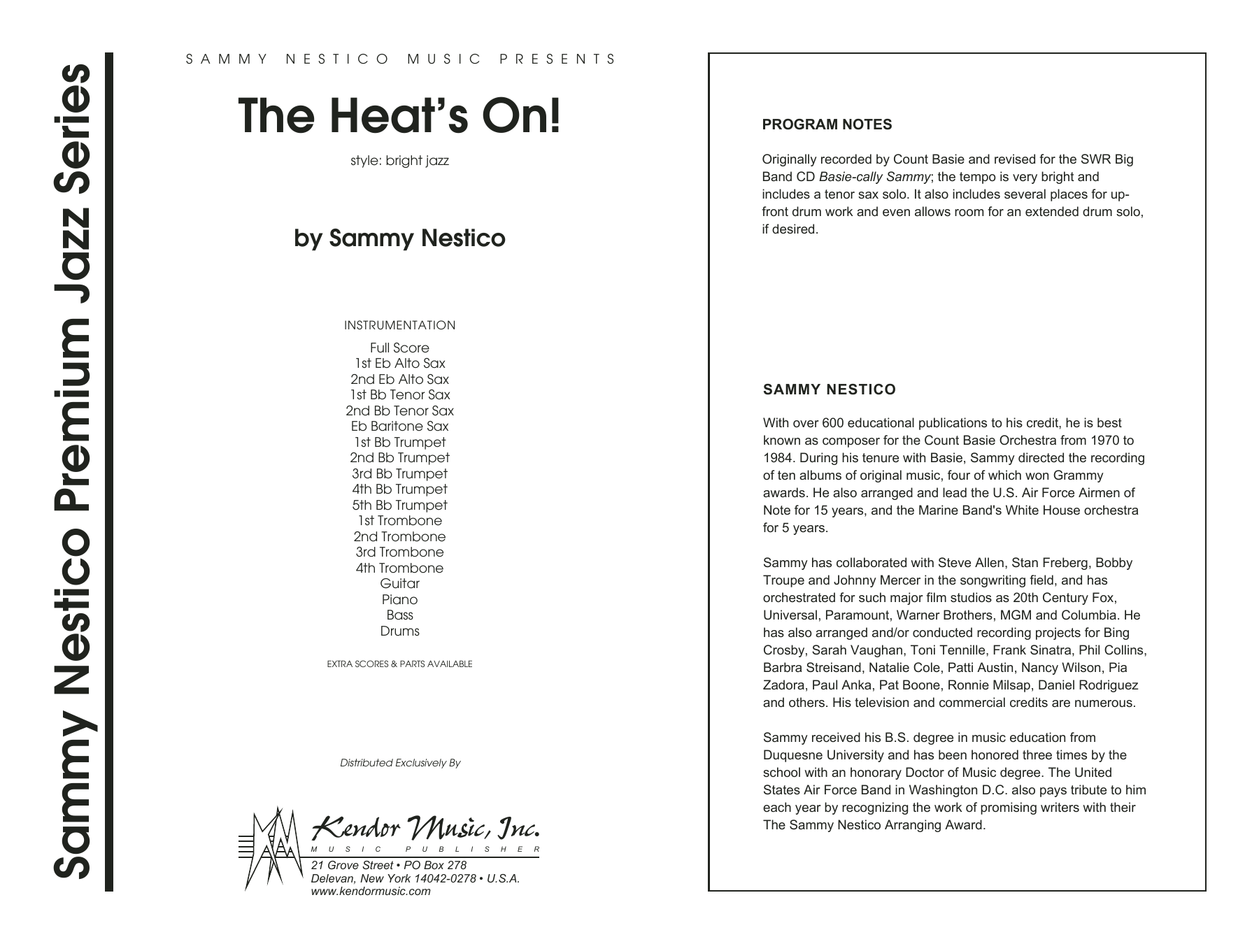 The Heat's On - Full Score Sheet Music