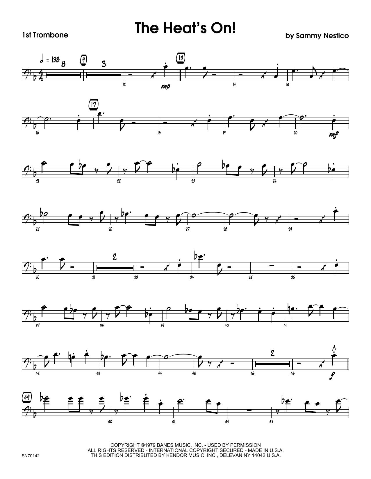 The Heat's On - 1st Trombone Sheet Music