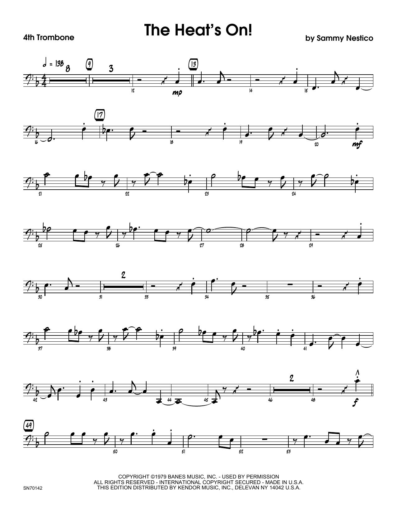 The Heat's On - 4th Trombone Sheet Music