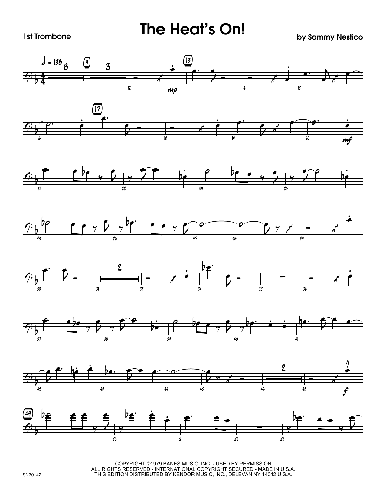 The Heat's On - 1st Trombone Sheet Music