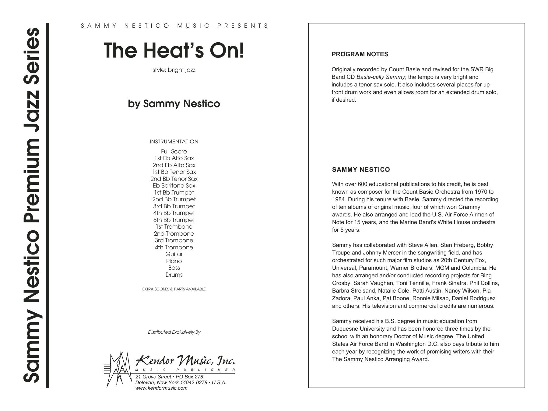 The Heat's On - Full Score Sheet Music