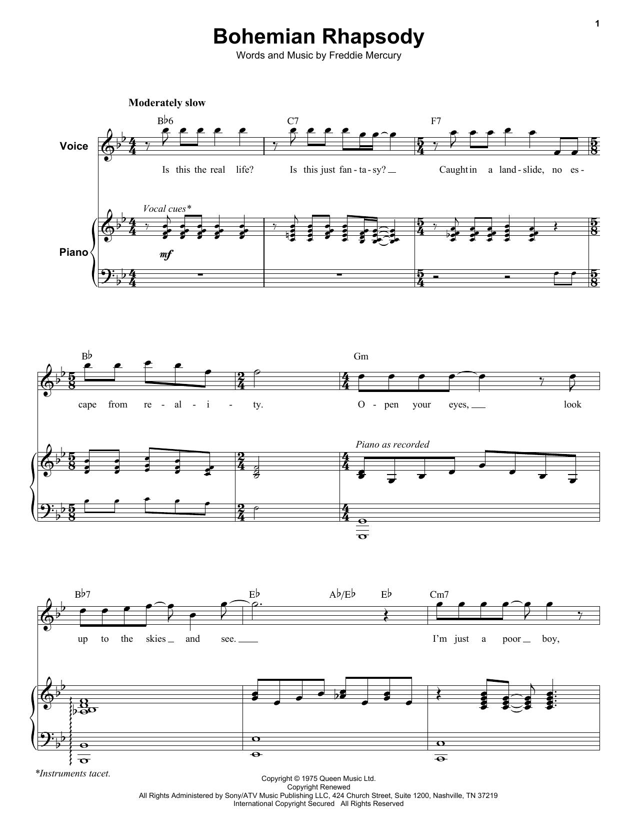 Bohemian Rhapsody (Keyboard Transcription)