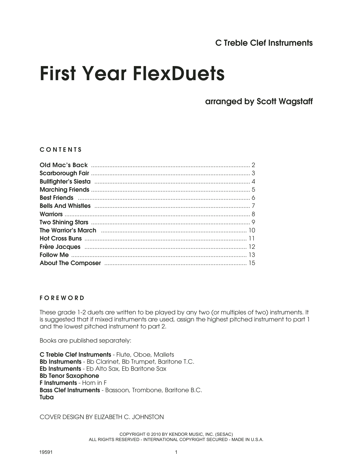 First Year FlexDuets - C Treble Clef Instruments Sheet Music