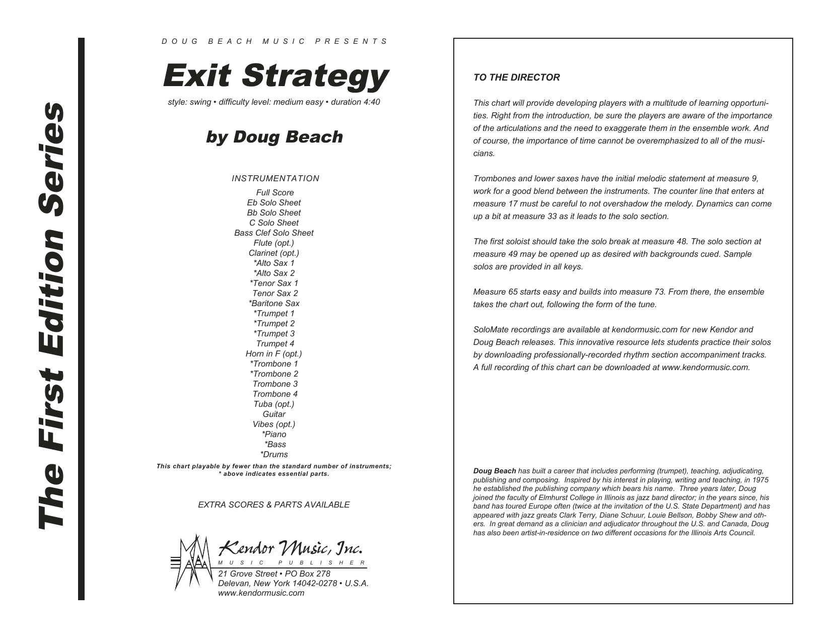 Exit Strategy - Full Score Sheet Music