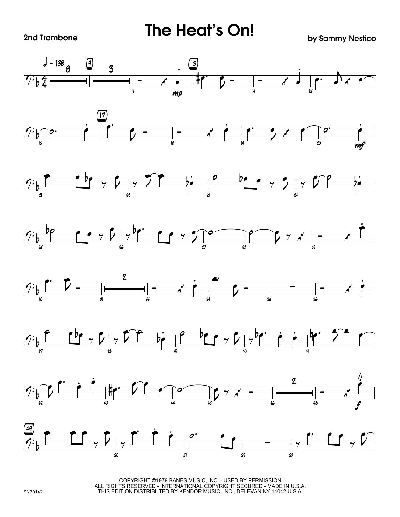 The Heat's On - 2nd Trombone Sheet Music