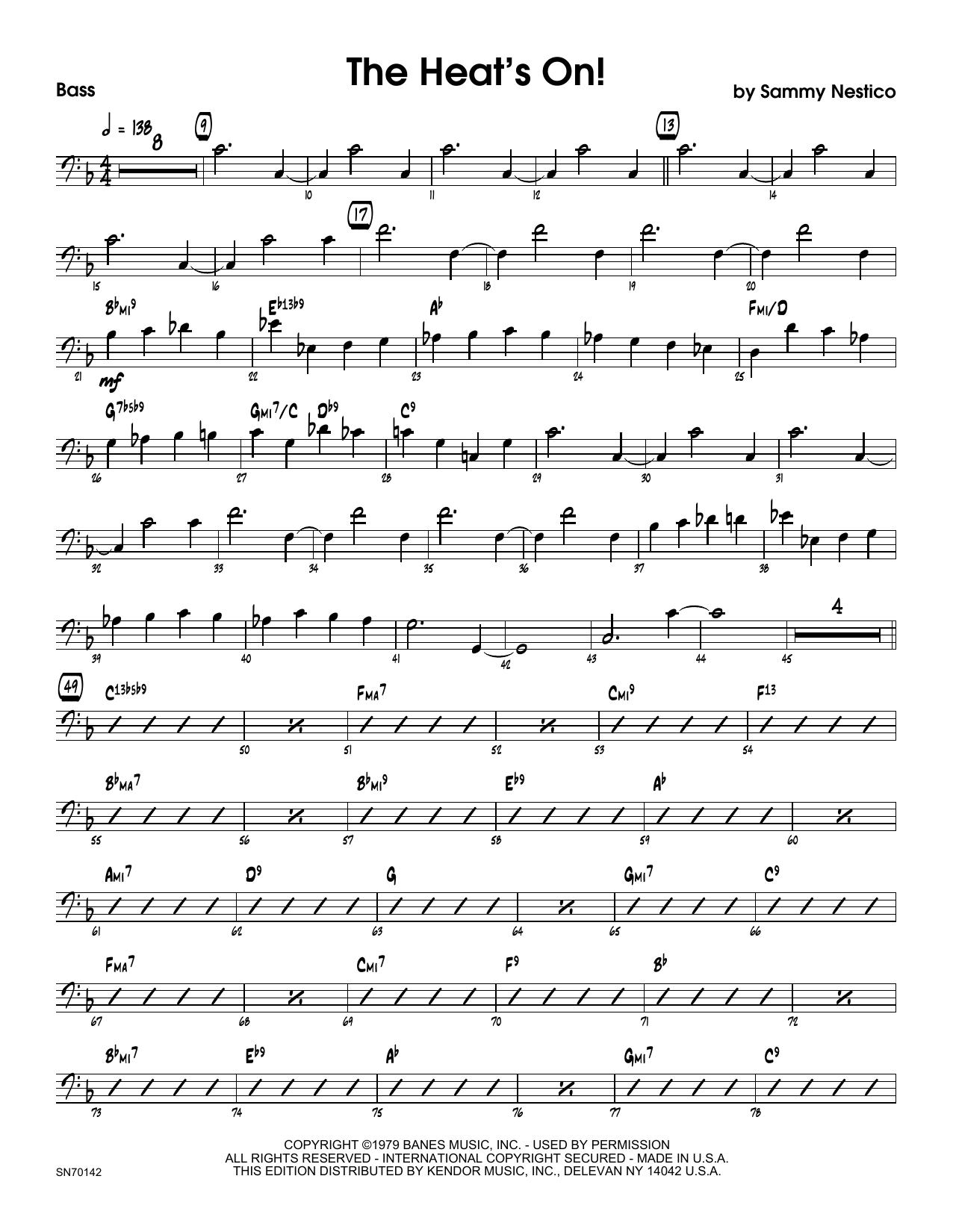 The Heat's On - Bass Sheet Music