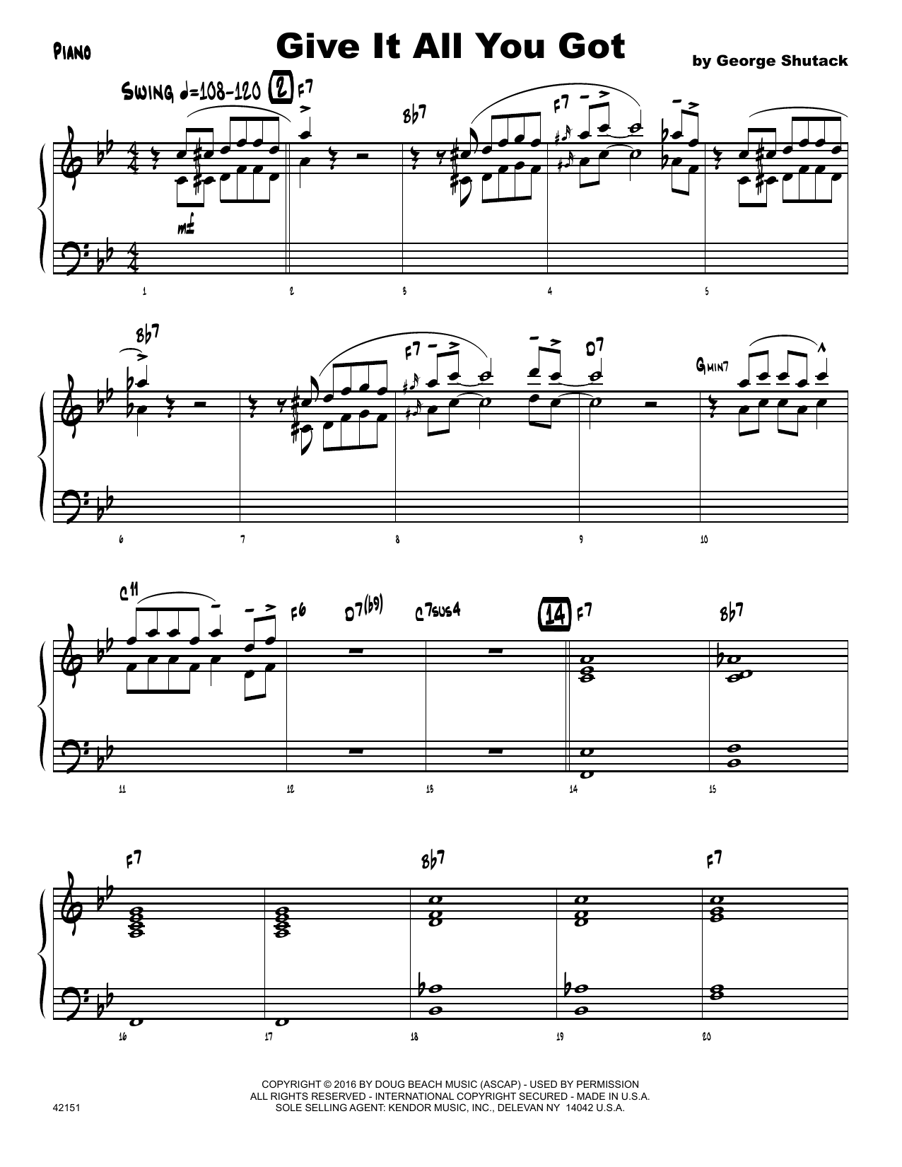 Give It All You Got - Piano Sheet Music