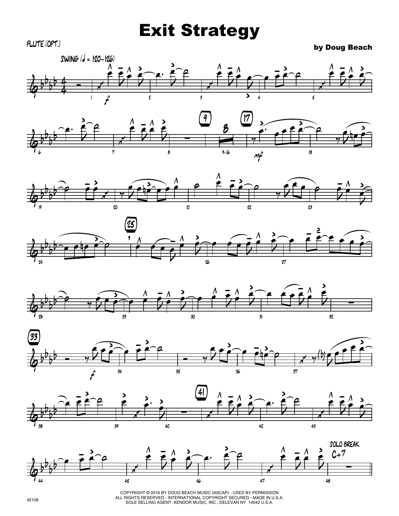 Exit Strategy - Flute Sheet Music