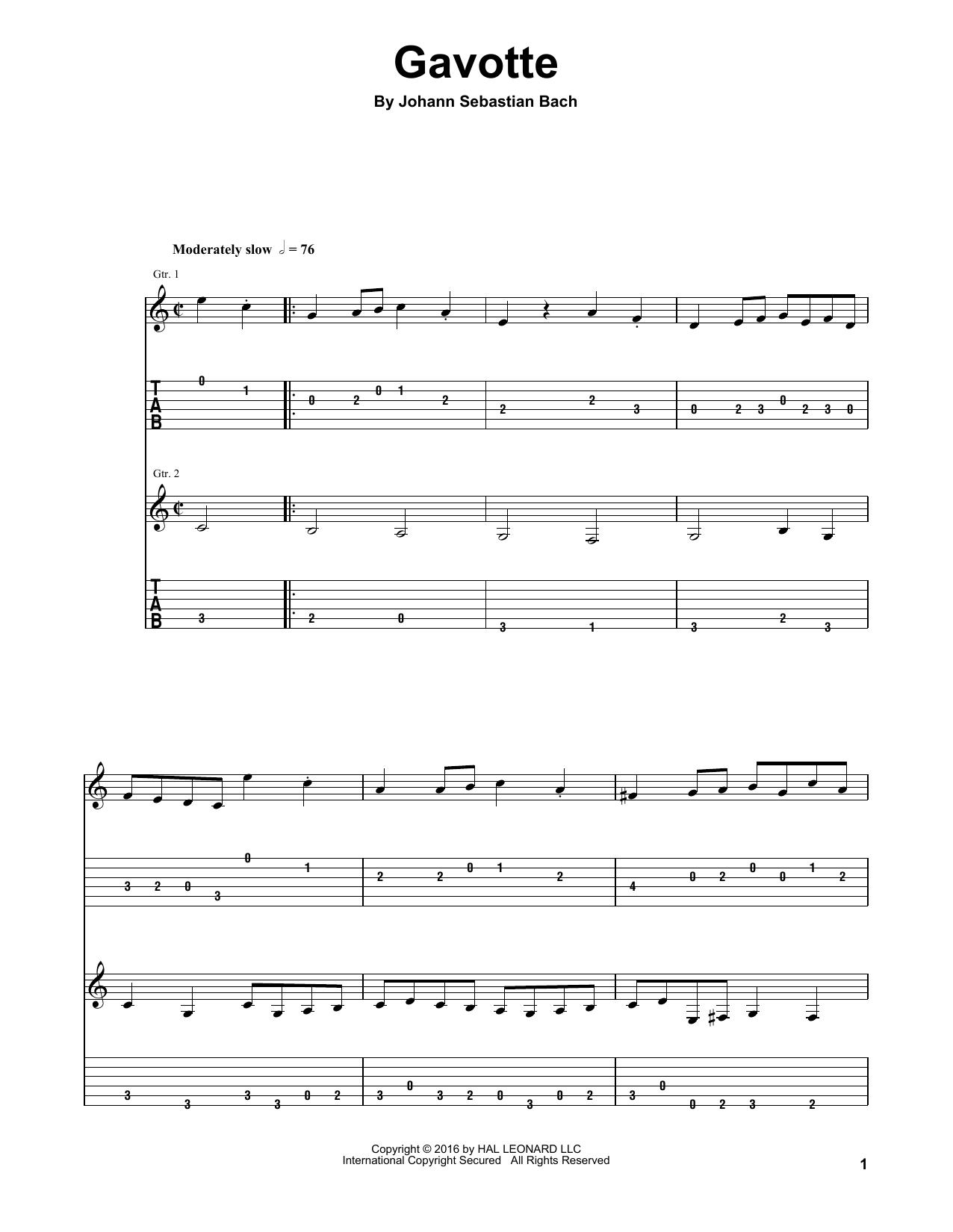 Gavotte (Guitar Tab (Single Guitar))