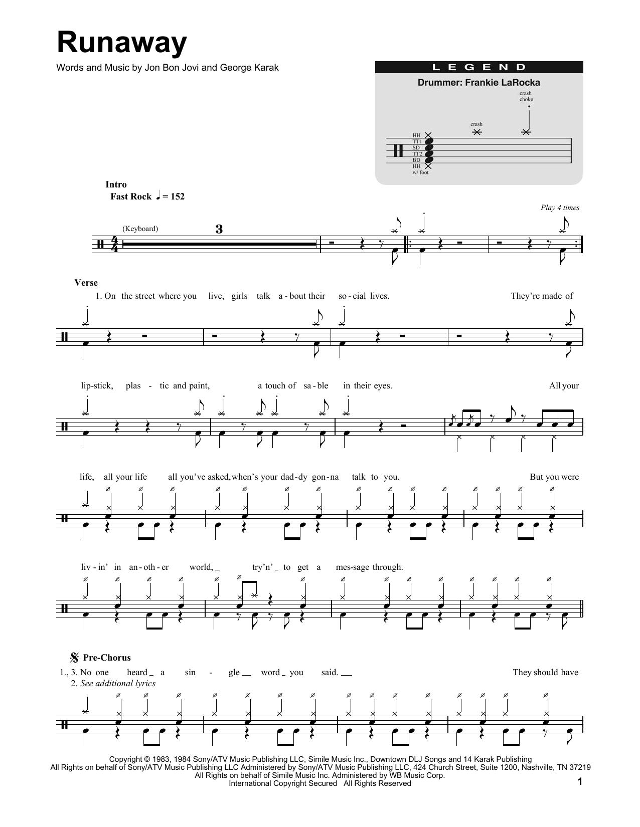 Runaway (Drums Transcription)