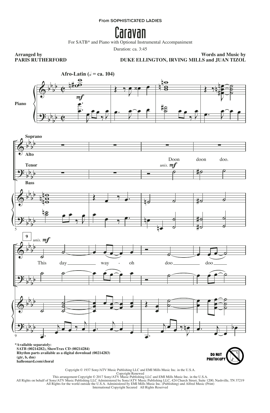 caravan drum sheet music pdf