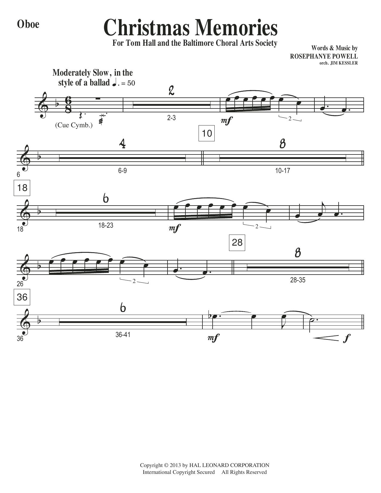 Christmas Memories - Oboe Sheet Music