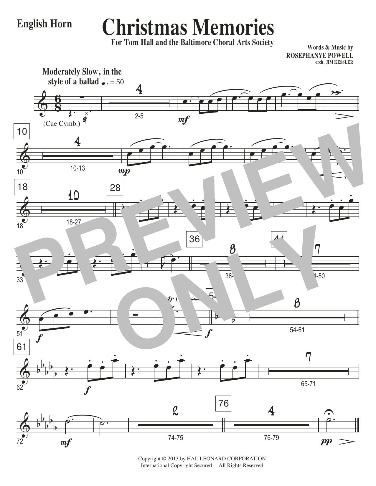 Christmas Memories - English Horn Sheet Music