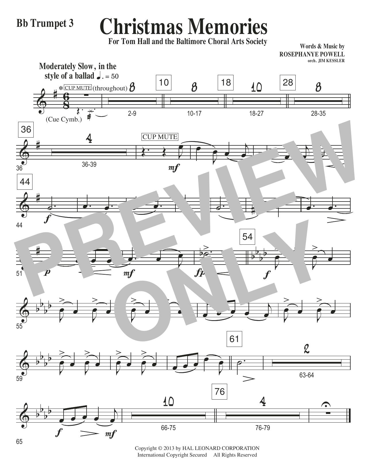 Christmas Memories - Bb Trumpet 3 Sheet Music