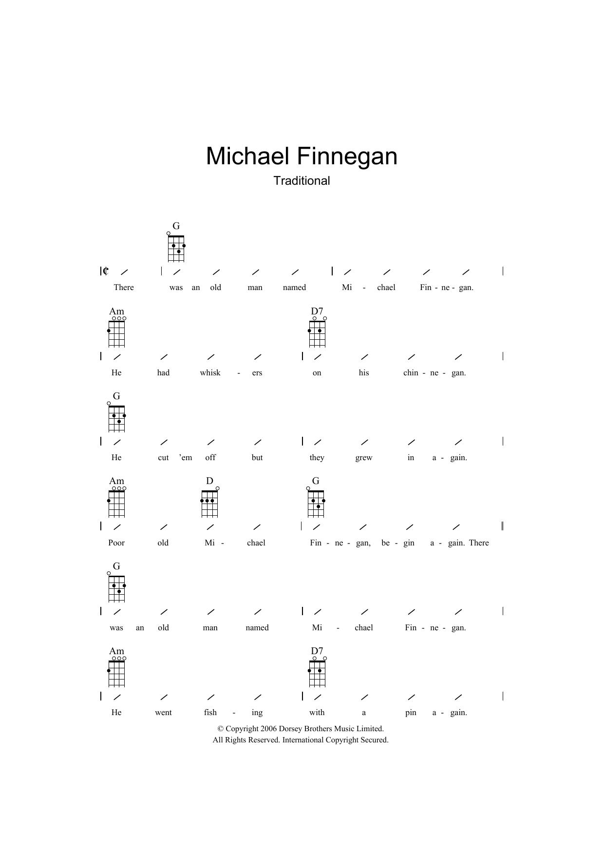 Michael Finnegan (Ukulele Chords/Lyrics)