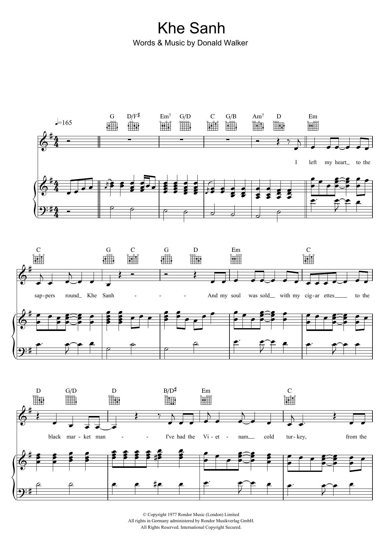 Khe Sanh (Piano, Vocal & Guitar)