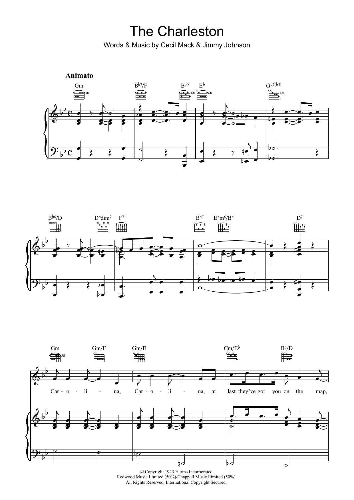 The Charleston (Piano, Vocal & Guitar)