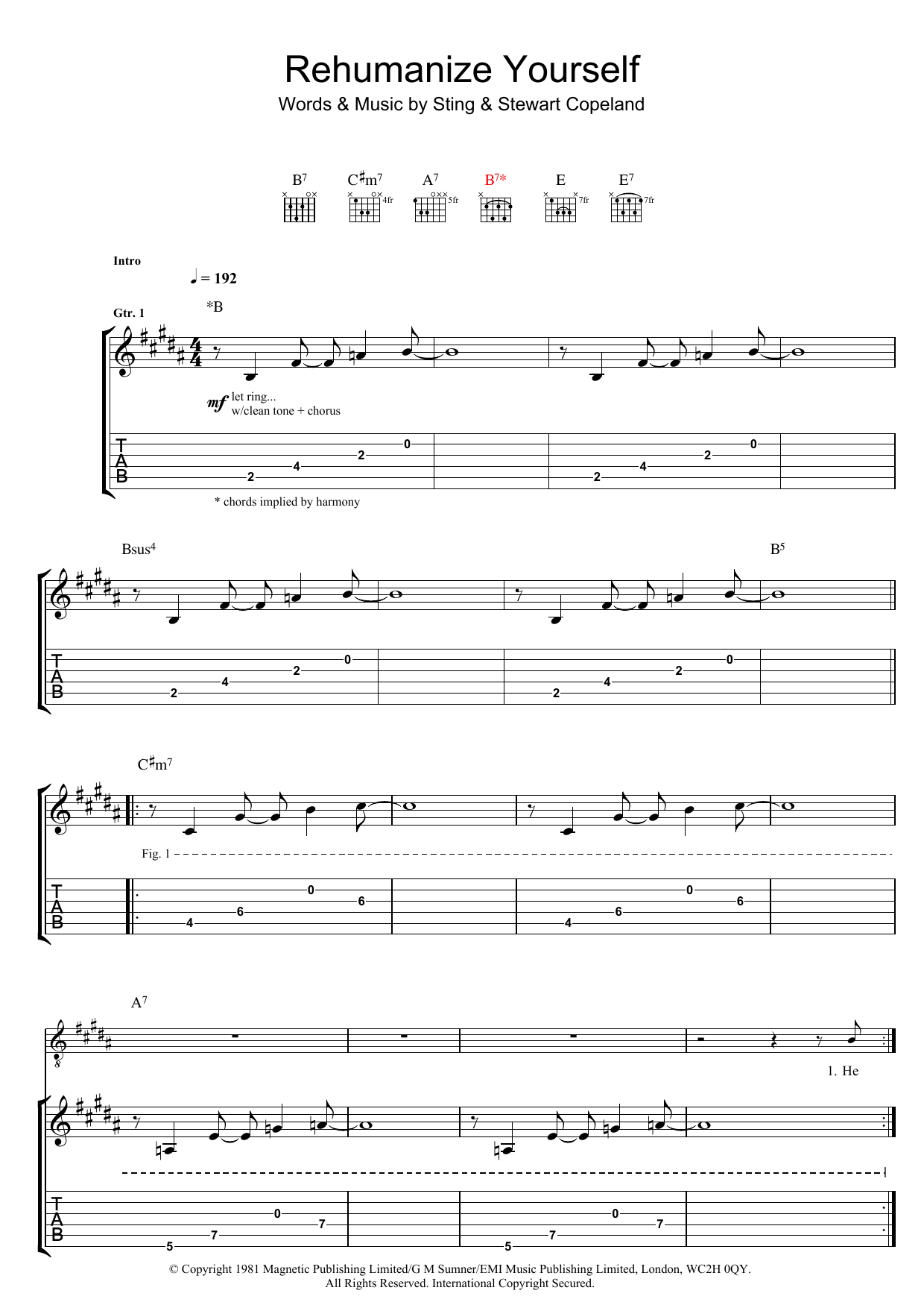 Rehumanize Yourself Sheet Music
