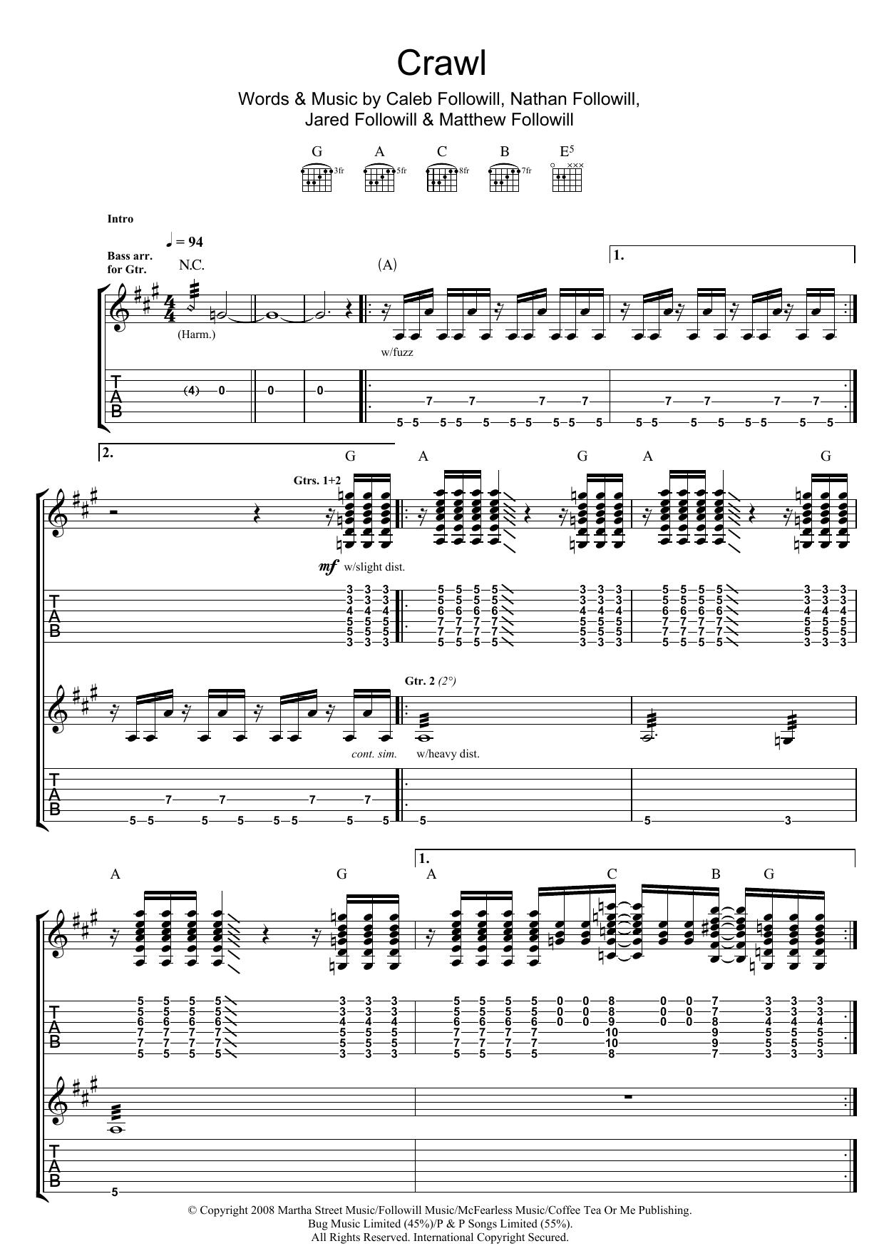 Crawl (Guitar Tab)