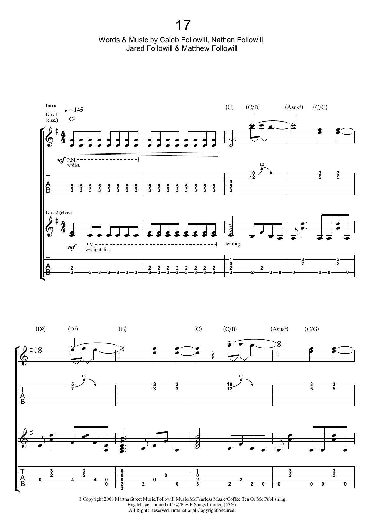 17 (Guitar Tab)