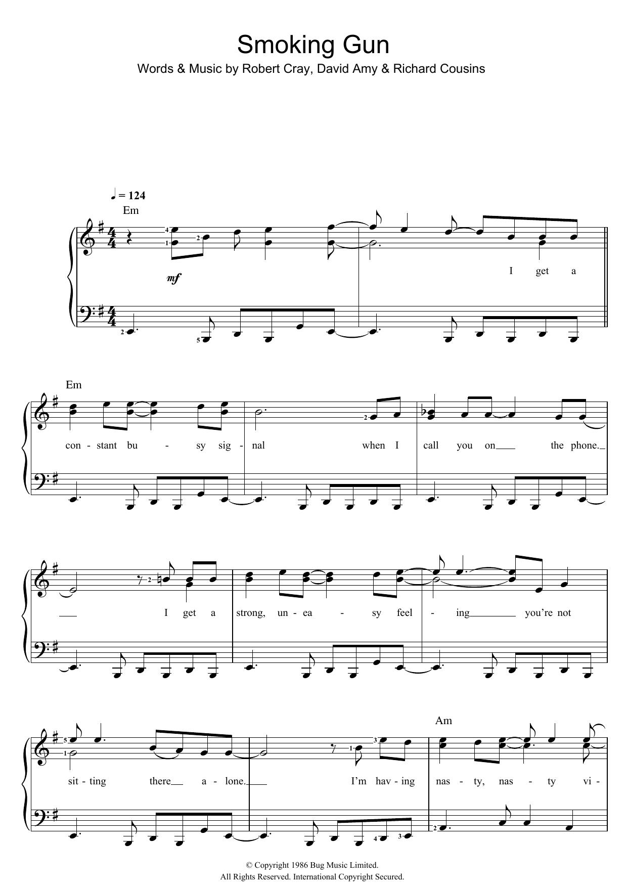 Smoking Gun (Piano & Vocal)