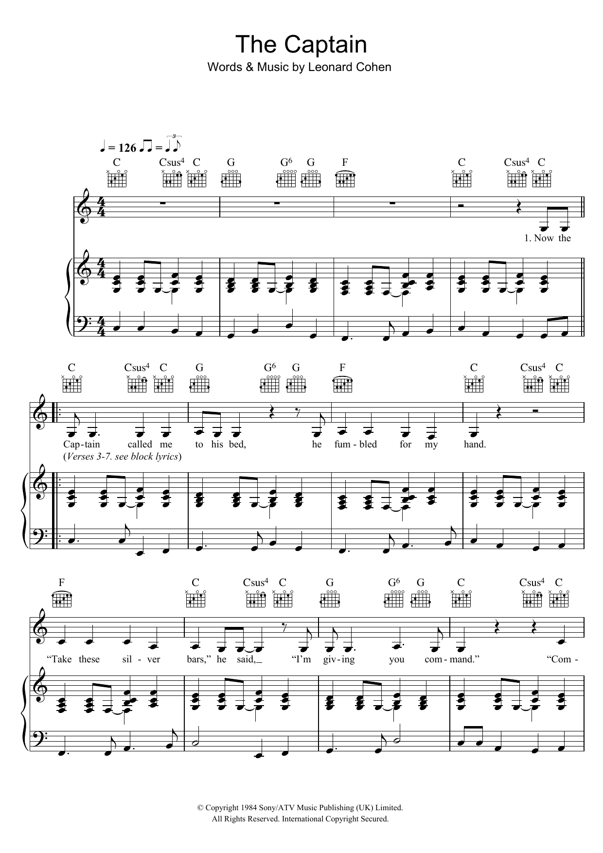 The Captain Sheet Music