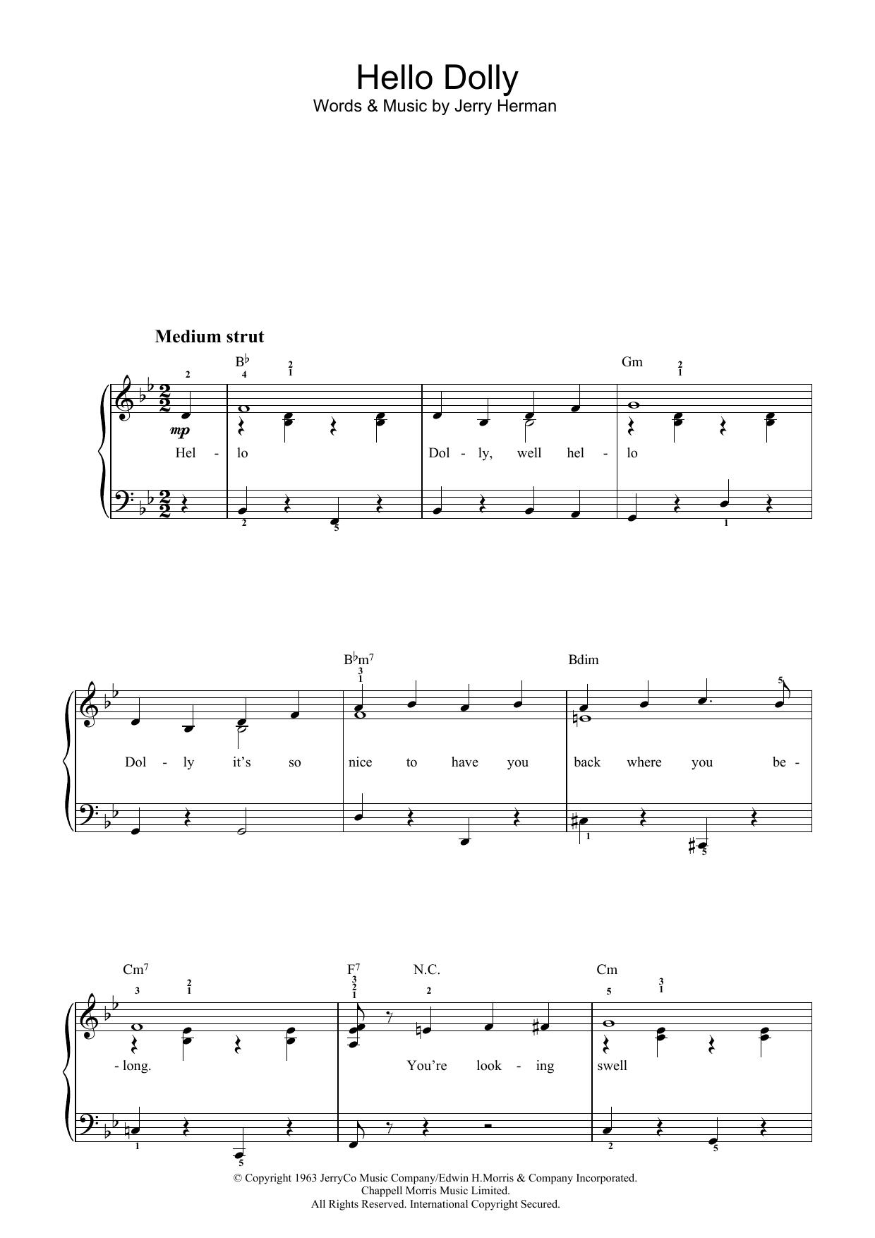 Hello Dolly (Easy Piano)