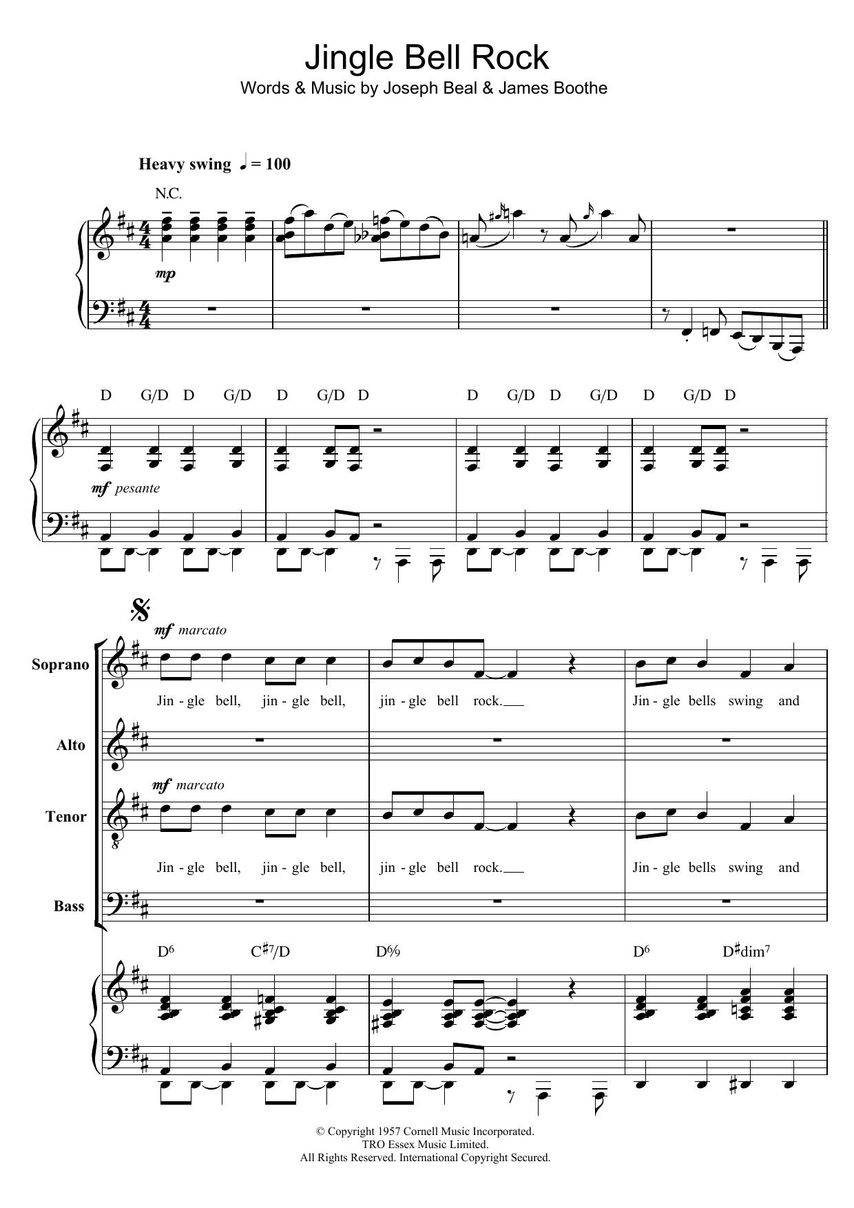 Jingle Bell Rock (arr. Berty Rice) Sheet Music