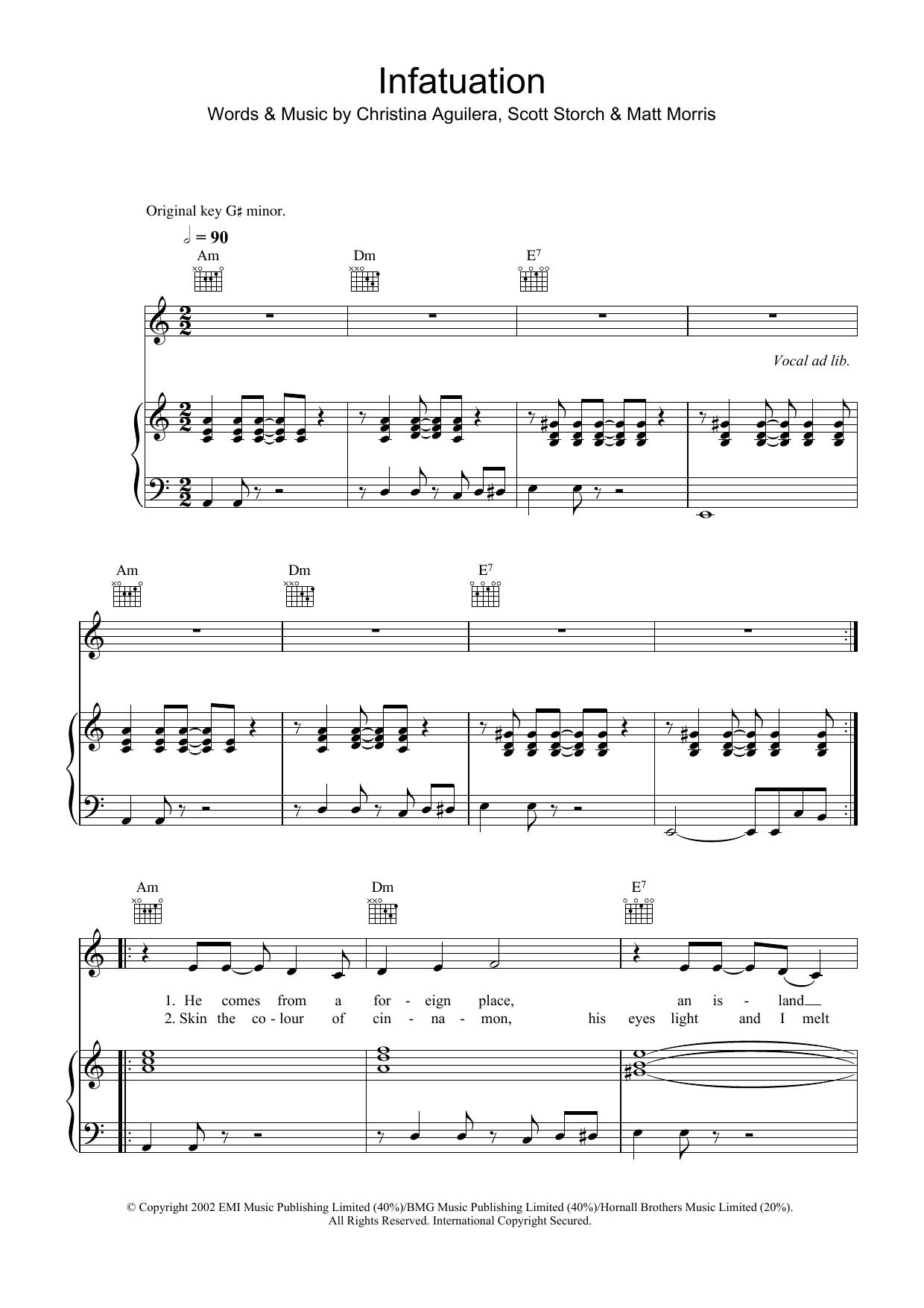 Infatuation (Piano, Vocal & Guitar)