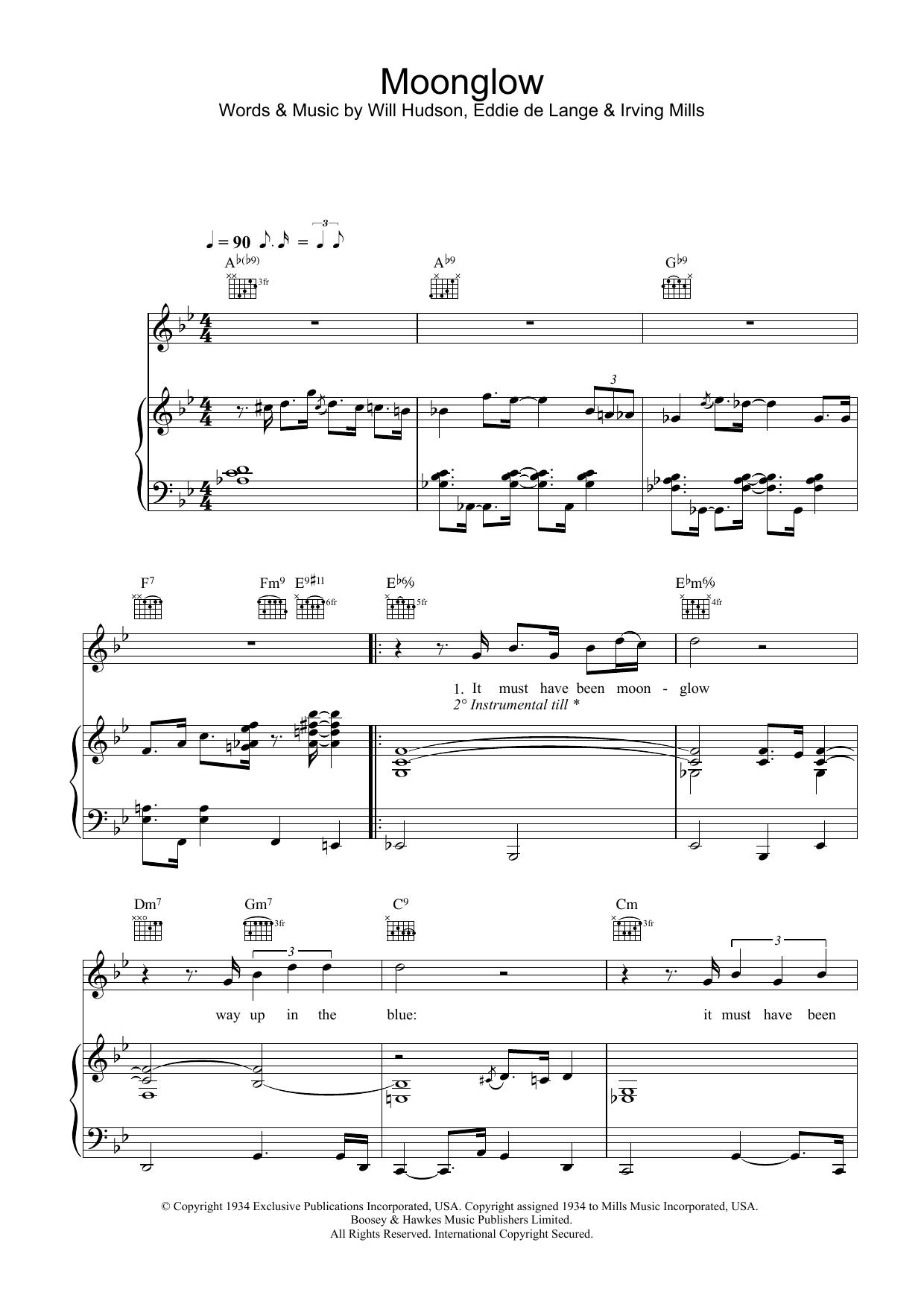 Moonglow (Piano, Vocal & Guitar)