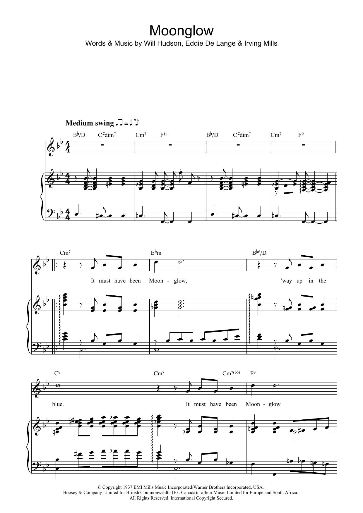 Moonglow Sheet Music