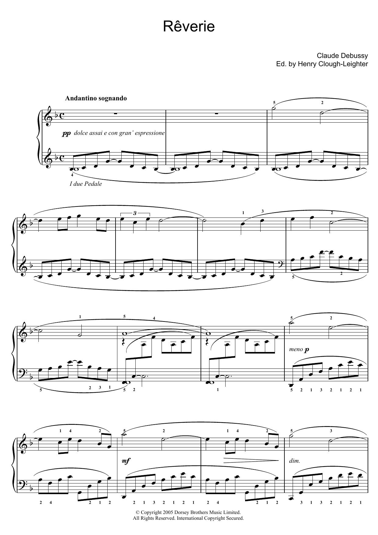 Reverie Sheet Music