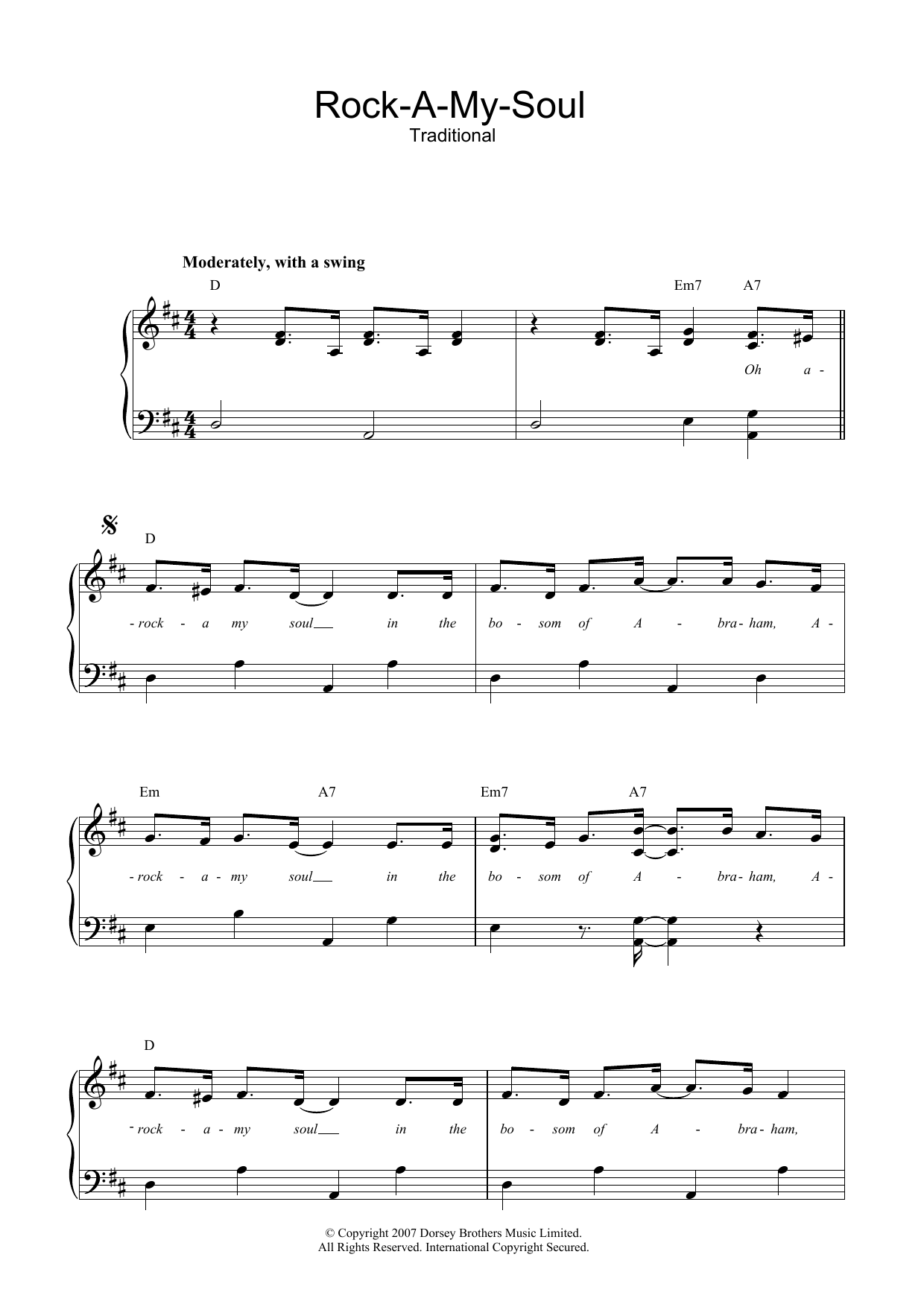 Rock-A-My-Soul Sheet Music