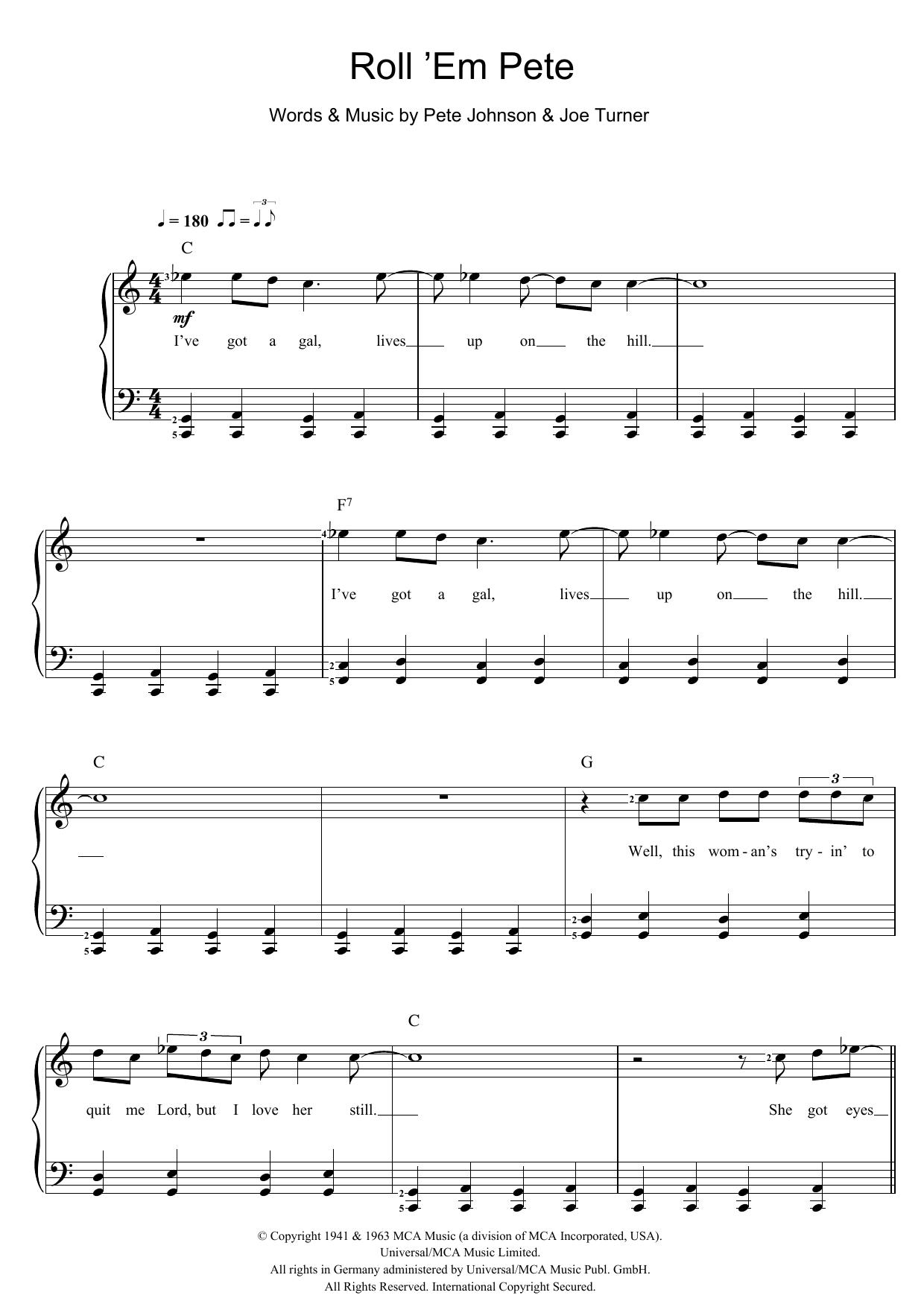 Roll 'Em Pete (Piano & Vocal)