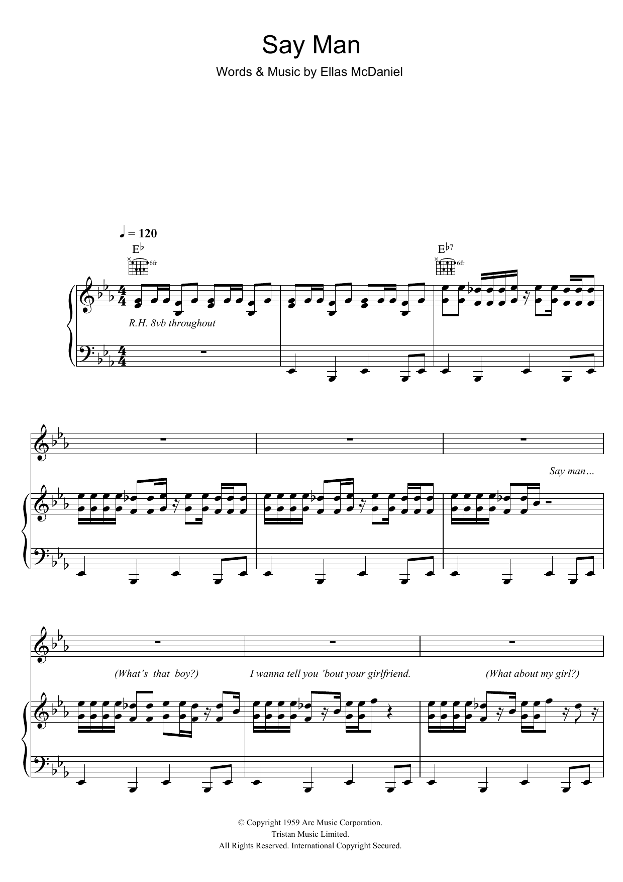 Say Man (Piano, Vocal & Guitar)