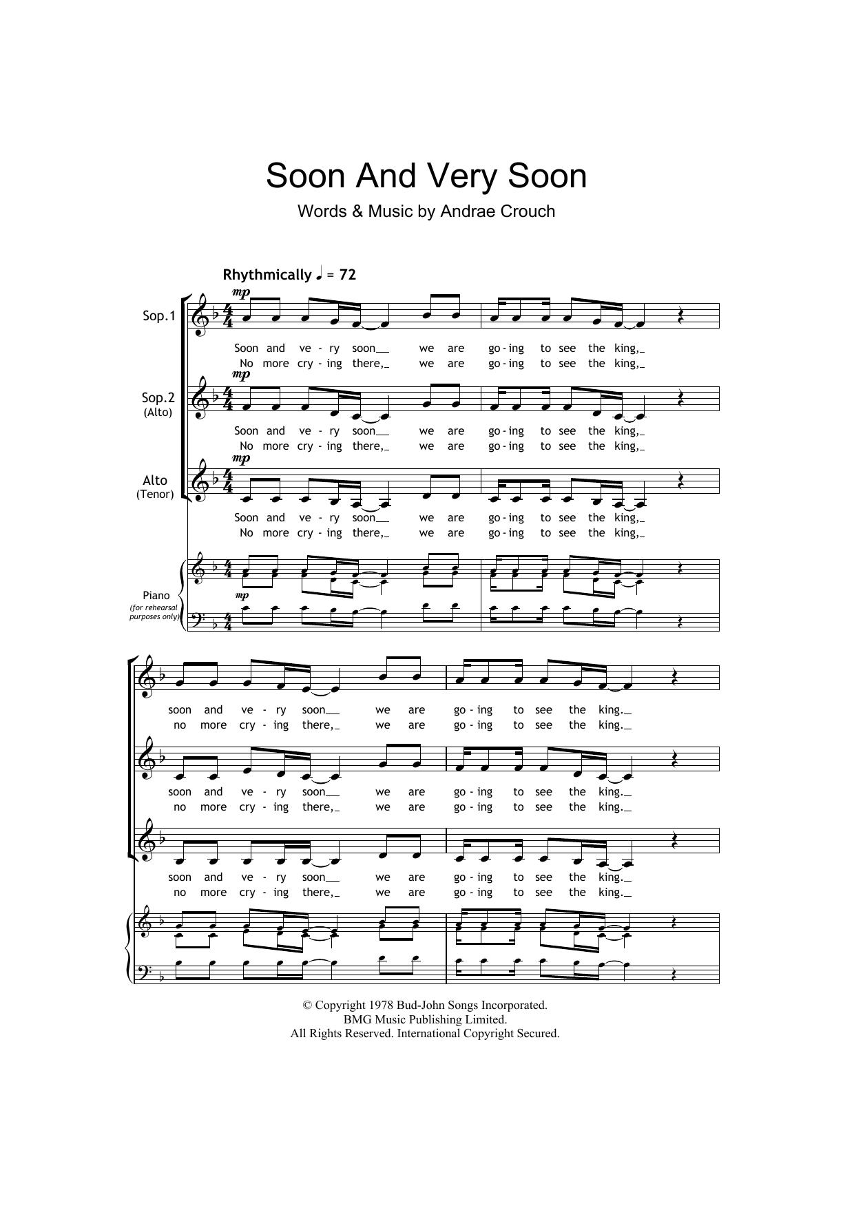 Soon And Very Soon (arr. Barrie Carson Turner) (SSA Choir)
