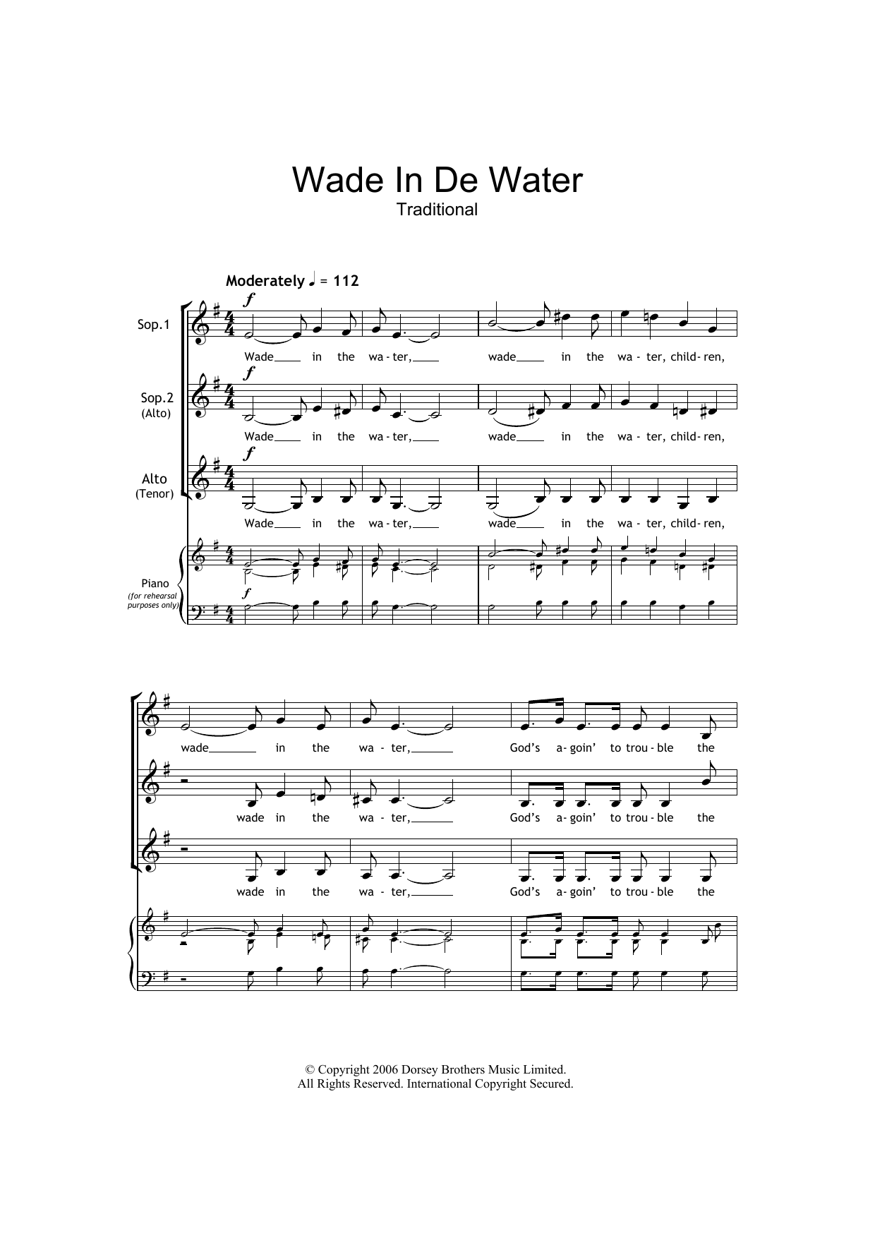 Wade In The Water (arr. Barrie Carson Turner) (SSA Choir)