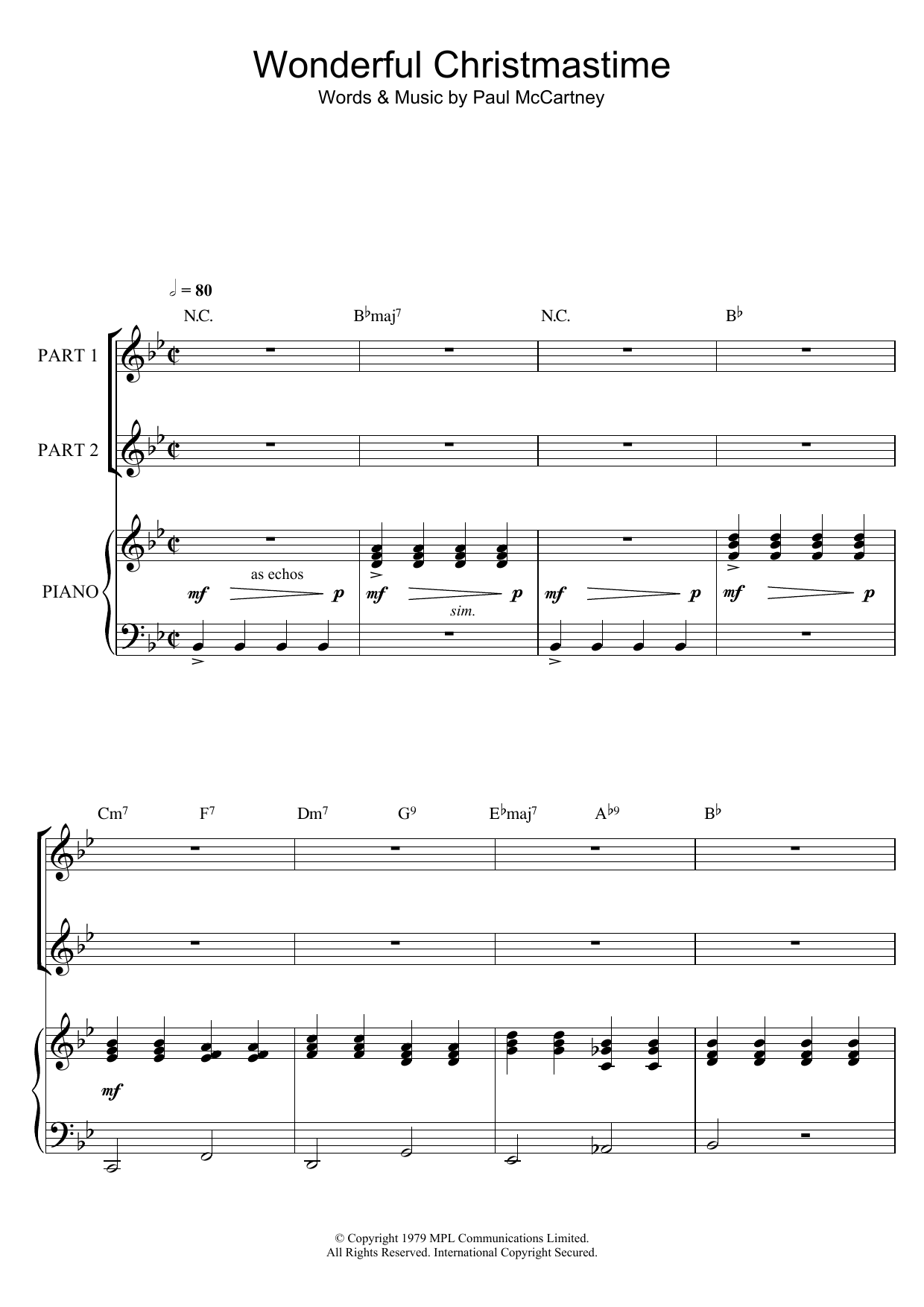 Wonderful Christmastime (arr. Rick Hein) (2-Part Choir)